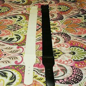 "Bundle of two elastic waist belt 3"" wide"